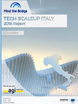 Tech Scaleup Italy - 2018 Report | Mind the Bridge