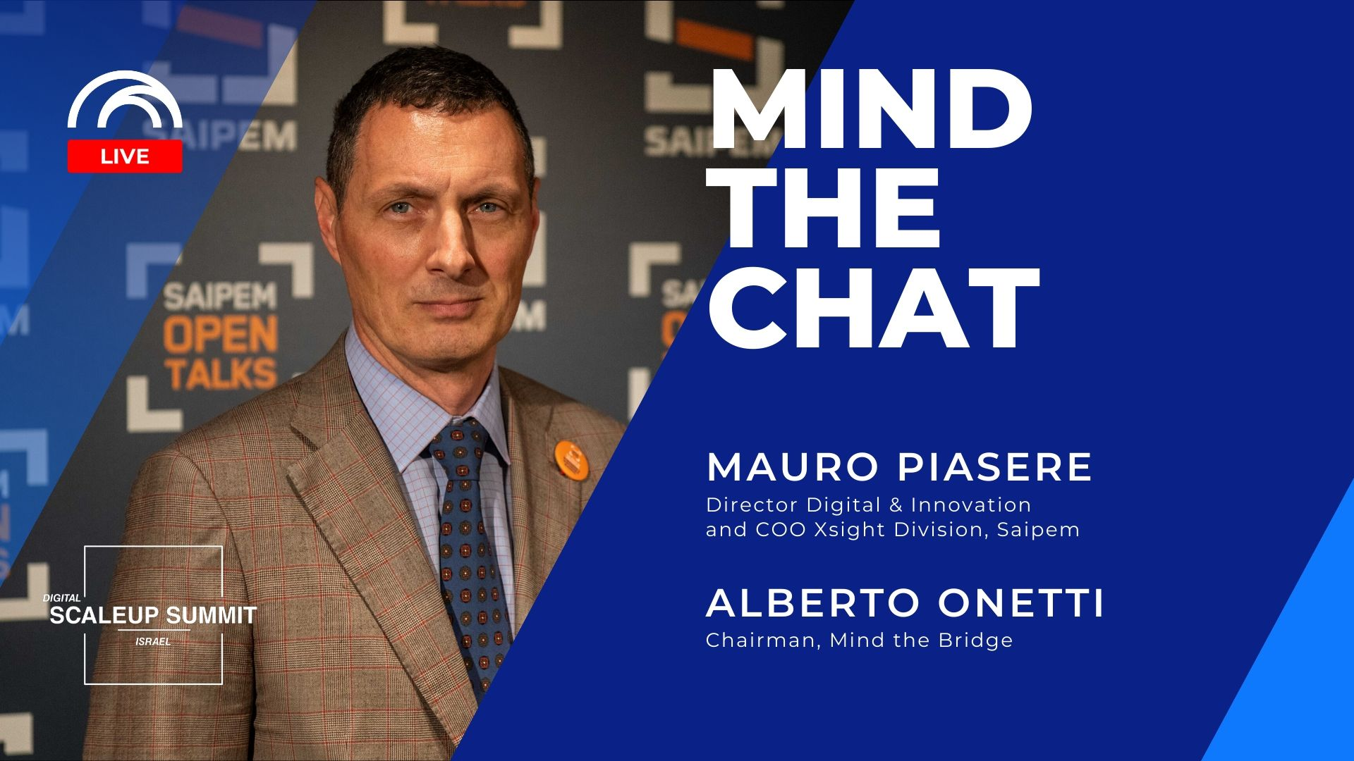 Mind the Chat with Mauro Piasere (Saipem)