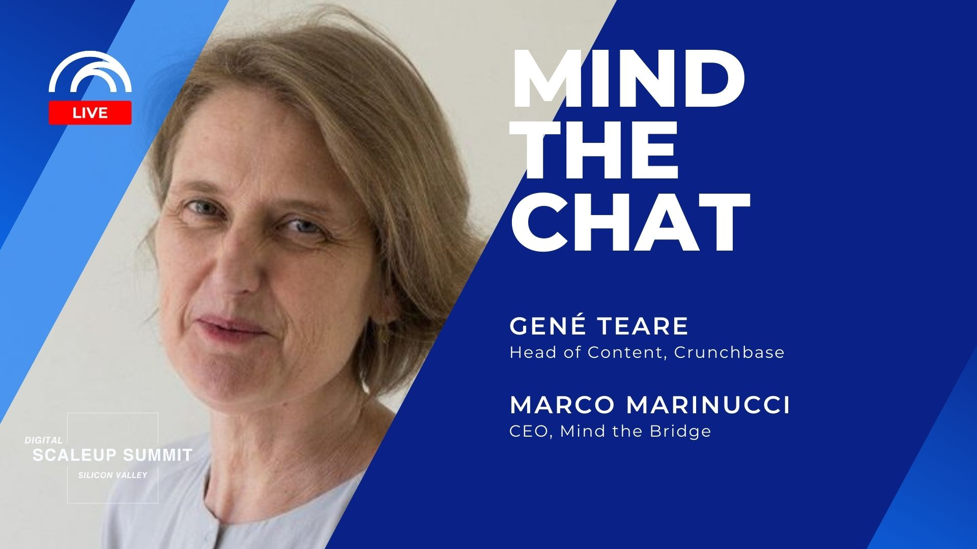 Mind the Chat with Gené Teare - Crunchbase